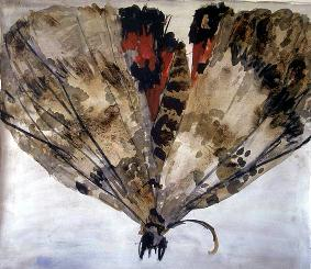 Gallery of large 39 insect 39 paintings by artist be van der heide for Painting with coffee grounds